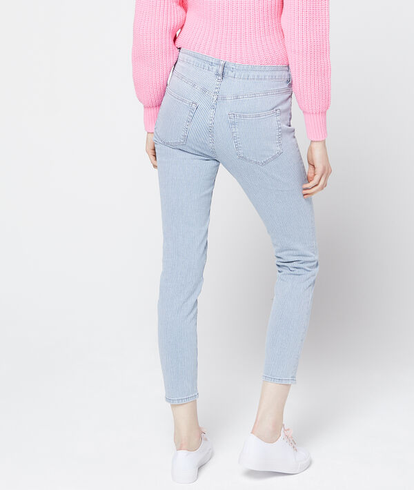 Pantalon slim à rayures