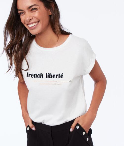 T shirt à message