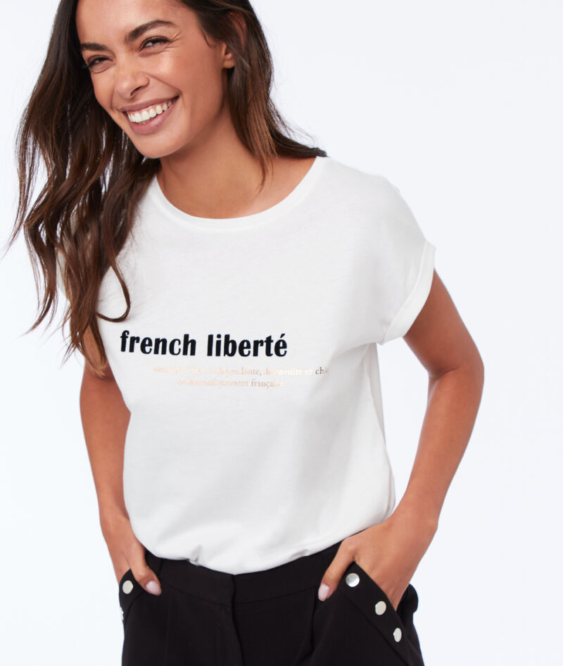 T SHIRT À MESSAGE