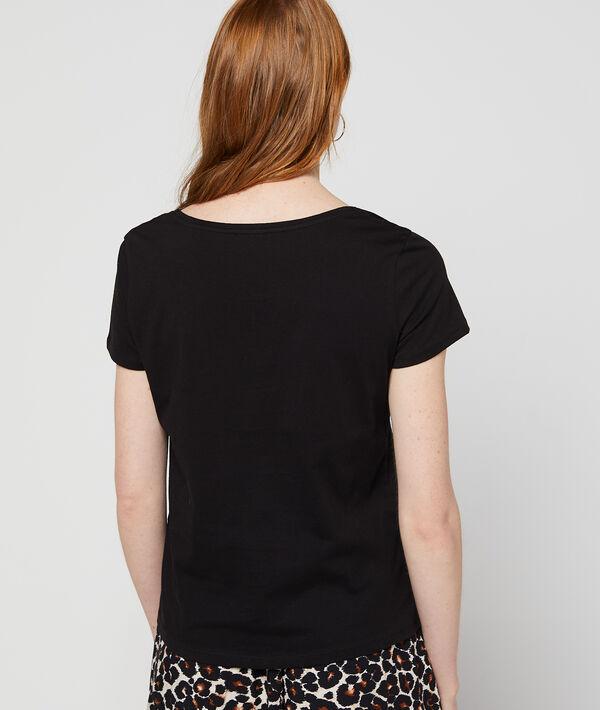 T-shirt à broderies cœur 100% coton