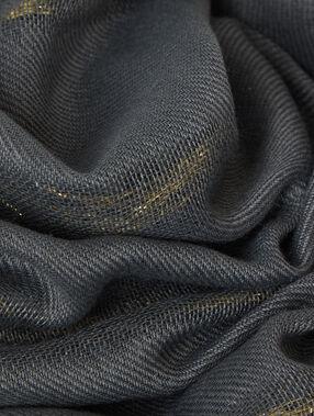 Foulard détails métallisés kaki.