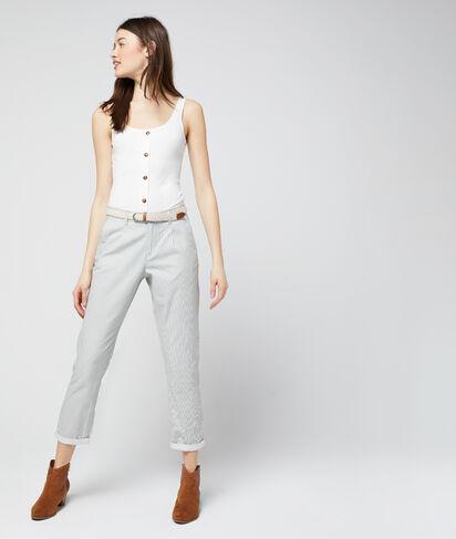Pantalon chino court en coton bio