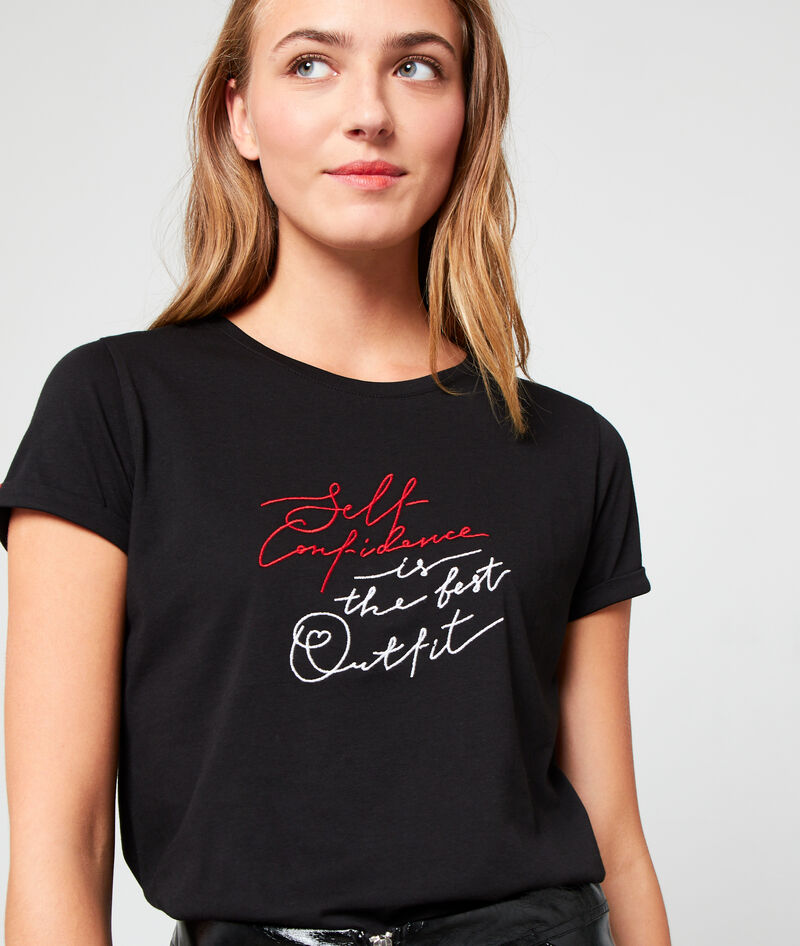 "T-SHIRT ""SELF CONFIDENCE IS THE BEST OUTFIT"" EN COTON BIO"