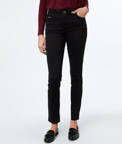 Pantalon slim noir.