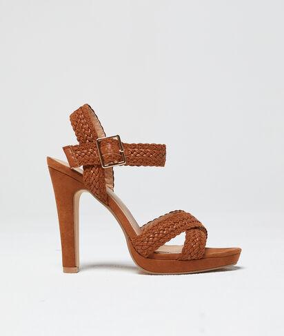 Sandales tressées à talons