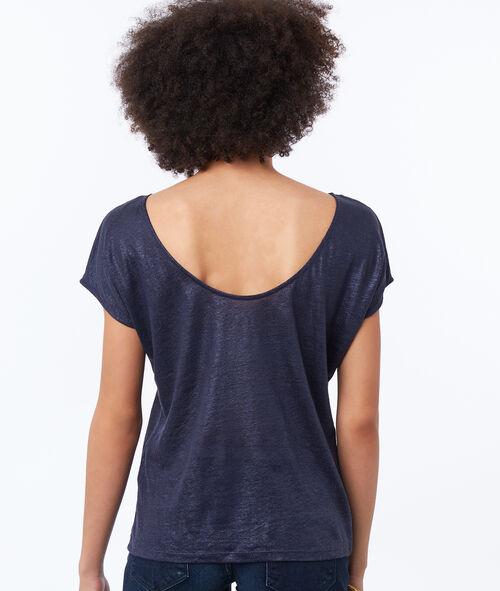 T-shirt en lin irisé