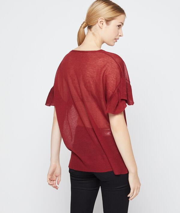 T-shirt effet transparent en maille fine