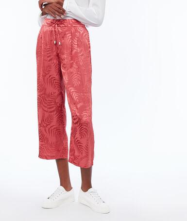 Pantalon jacquard framboise.