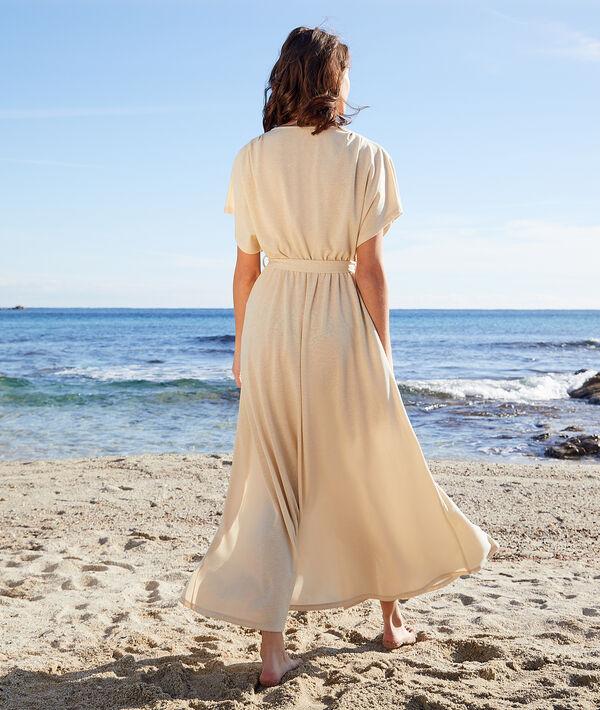 Robe longue pailletée avec ceinture