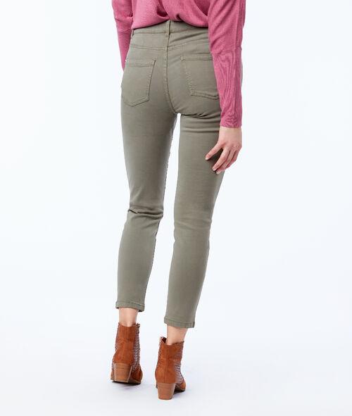 Pantalon slim 7/8 100% coton