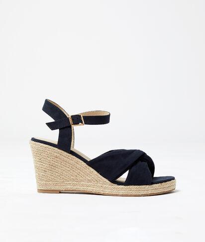 Sandales compensées et nouées