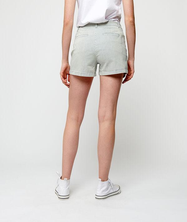 Short en jean rayé