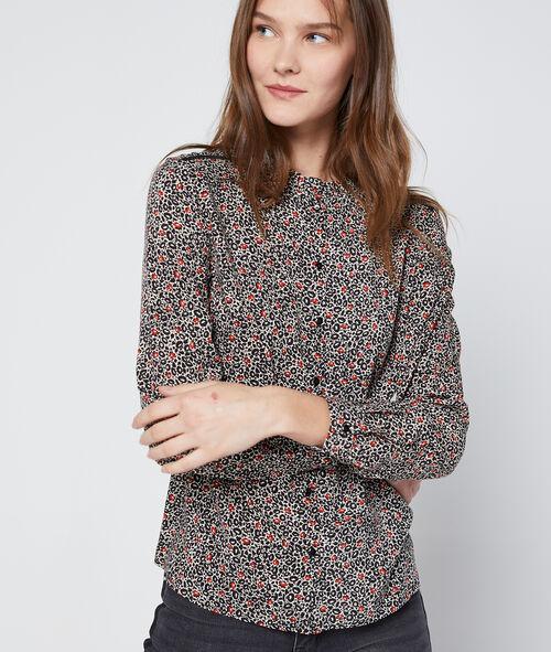 Chemise à imprimé floral 100% coton