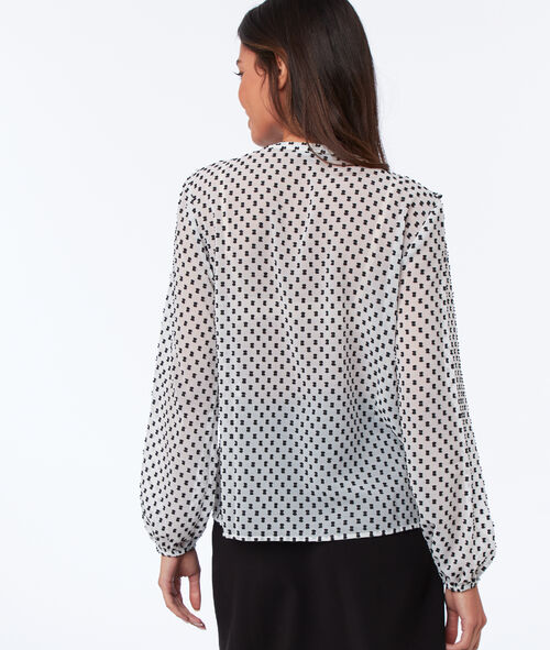 Blouse col tunisien à volants