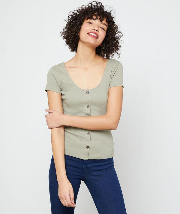 T-shirt boutonné