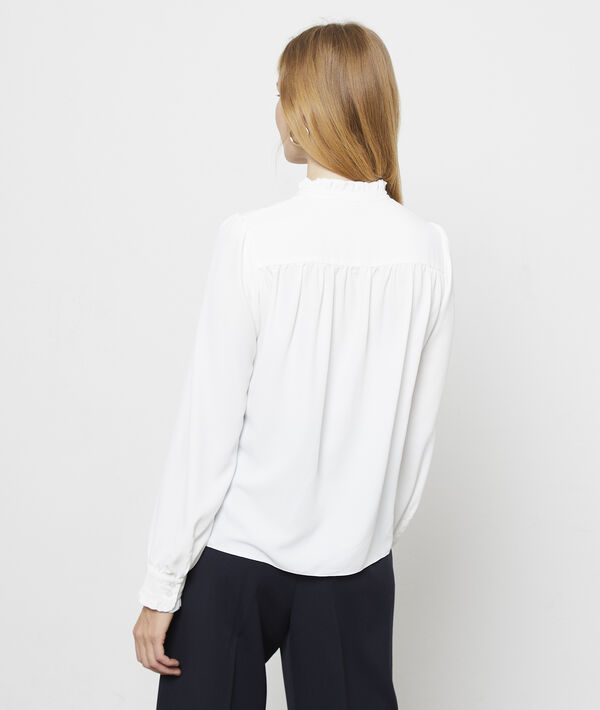 Chemise col à volants