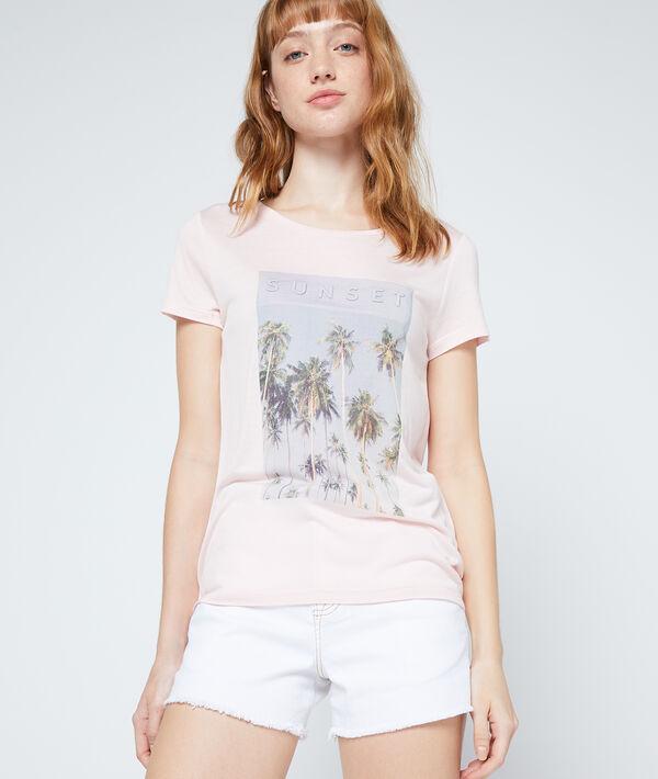 T-shirt à imprimé palmiers