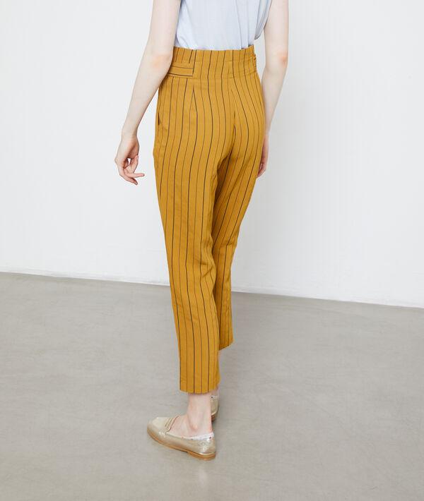 Pantalon carotte à rayures