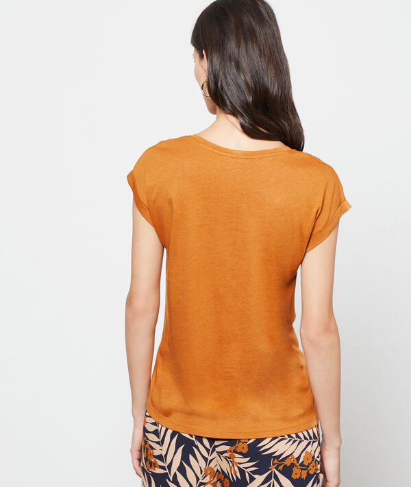 T-shirt sérigraphie girafe