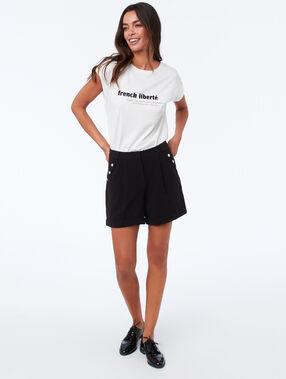 T shirt à message ecru.