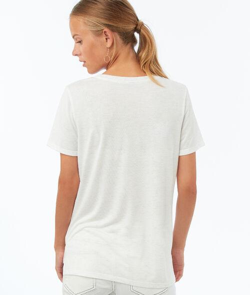 T-shirt à fils métallisés