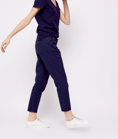 Pantalon court ceinturé en coton bio