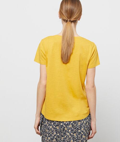 T-shirt col v 100% coton bio