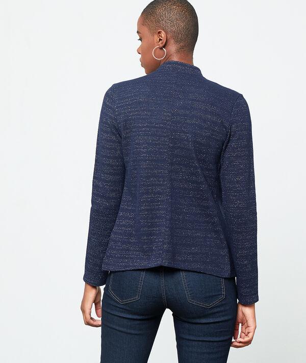 Veste col tailleur à fils métallisés
