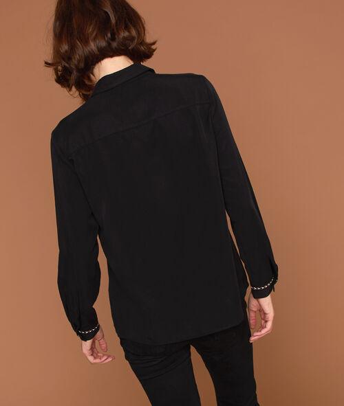 Chemise en Tencel® à poches brodées