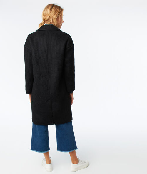 Manteau oversize en laine mélangée
