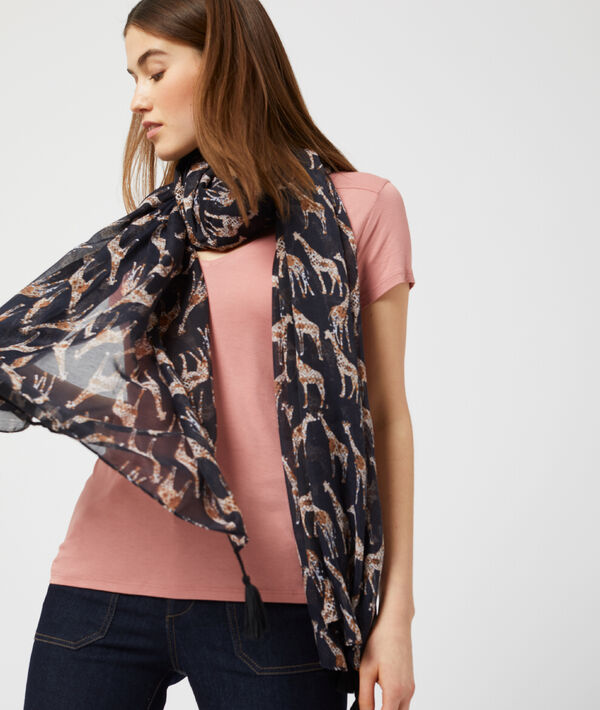 Foulard à motifs girafe
