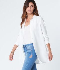 Chemise longue blanc.