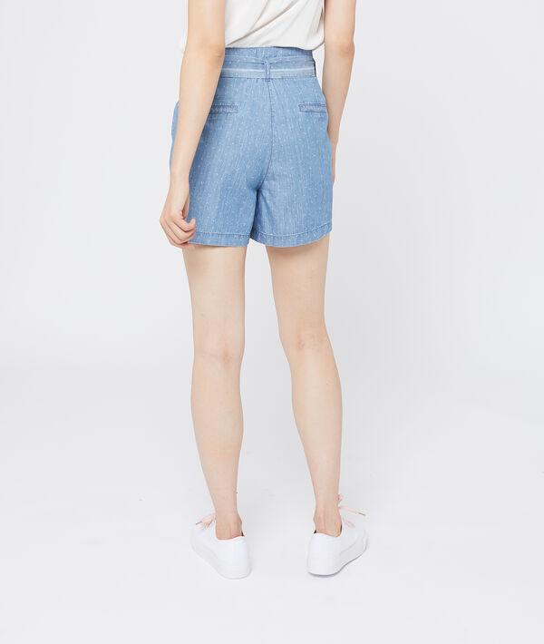 Short en jean à nouer