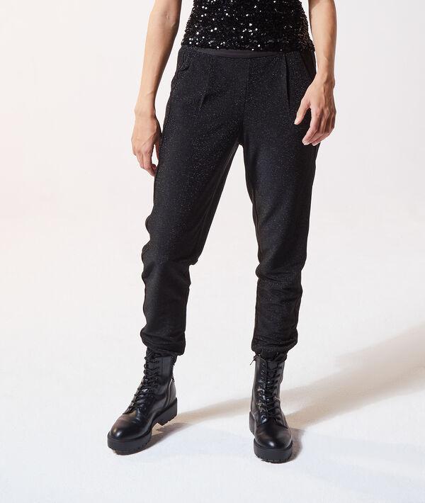 Pantalon carotte pailleté - JOGY - 34 - Noir - Femme - Etam