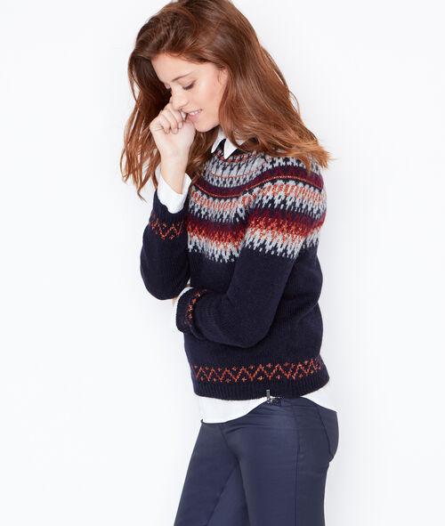 Pull en laine avec motifs intarsia