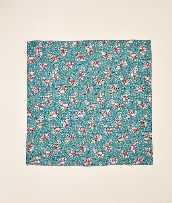 Foulard 68 x 68 cm imprimé cachemire