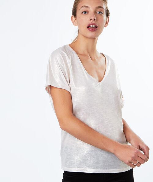 T-shirt effet lurex