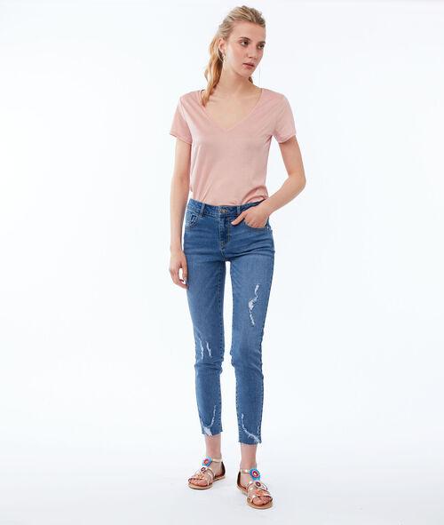 Jean skinny effet déchiré
