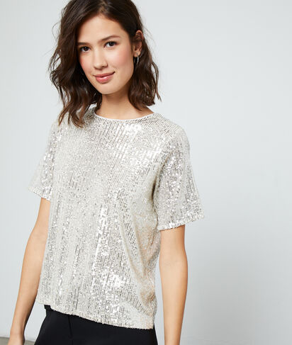 Top à sequins dos ouvert