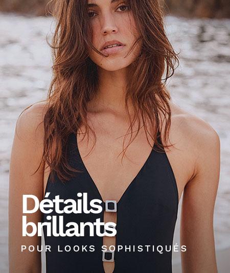 Nouvelle collection bain imprimé cachemire - maillots de bain détails brillance